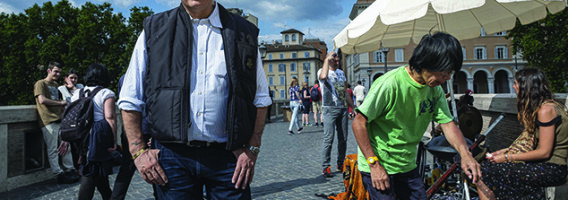 El escritor Federico Moccia en Roma.